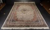 Indisk tæppe 245 x 354 cm.
