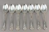 Cohr. Saksisk. Spiseskeer af sølv (7)