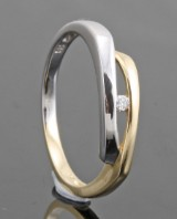 14kt. diamond ring approx. 0.02ct