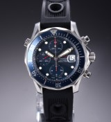 Omega 'Seamaster Chrono Diver'. Men's watch, with blue dial, c. 2007