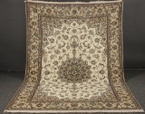 Densely knotted signed Persian Nain Akhavan carpet with silk, 300 x 204 cm