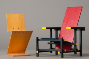 gerrit rietveld vitra miniatur rot blauer stuhl red blue chair zig zag chair vitra design. Black Bedroom Furniture Sets. Home Design Ideas