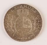 Norsk sølvmønt, 1/2 speciedaler 1776.