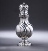 Rococo silver sugar/salt shaker, Gerhard Hass, Copenhagen, 1765