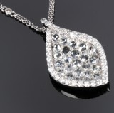 Siera. Diamond necklace, 18 kt. white gold, total approx. 1.40 ct
