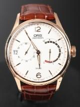 Oris Artelier Calibre, herrearmbåndsur af 18kt. rosaguld.