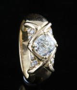 18kt diamant ring ca. 0.99ct