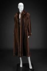 Brown mink coat, size 38-40. Labelled Saga Mink