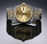 Rolex 'Oysterquartz Datejust'. Herreur i 18 kt. guld og stål med dato, ca. 1985