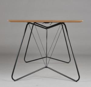 ware 3003434 ok design tisch 39 on a string 39 schwarzes linoleum 170 x 90 cm. Black Bedroom Furniture Sets. Home Design Ideas