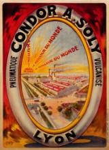 Tamagno. Plakat, 'Condor A. Soly Pneumatique Vulcanisé Lyon', omkr. 1910