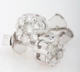 Par diamantøreringe fra byfrisenholm, 14 kt. rhodineret guld, ca. 0.50 ct. (2)
