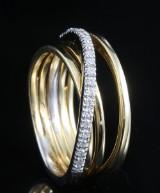 18kt diamond ring approx. 0.19ct