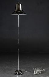 Verner Panton. Pantop standerlampe, forkromet metal