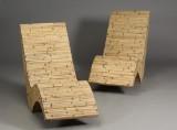 To lænestole/strandstole af bambus (2)