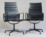 Charles & Ray Eames, Aluchair / lounge chair from Aluminium Group series EA 116 in leather, by Vitra (2)