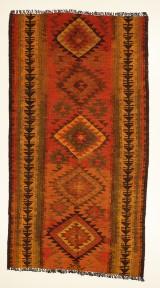 Handknuten persisk matta, Harsin-Kelim 260 x 140 cm