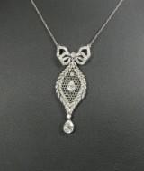 Antique necklace, platinum, diamonds