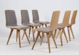 Seks stole i eg, model `Chiara`(6)