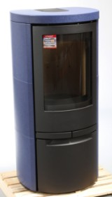 Jydepejsen brændeovn, Model: Cosmo 1147, Keramik sæt, Marina blå, Glasur KK-807