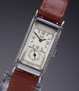 Rolex 'Prince'. Art Deco  men's watch, steel, with pale dial, 1930s