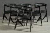 Tom Nixon. Six chairs, model 'Slab Chair' (6).