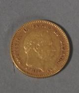 Danmark. 10 kr 1890 guldmønt