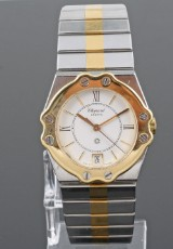 18kt. two tone quartz Chopard watch.