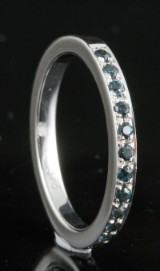 9kt. half eternity iolite ring approx.0.27ct