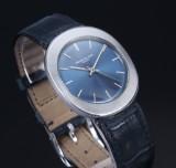 Patek Philippe. Vintage men's watch, steel with 'blue baton' dial, 1970s