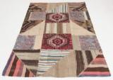 Matta, patchwork-kelim, 200 x 136 cm.