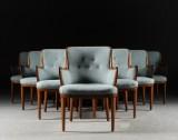 Carl Malmsten. Mahogany armchairs (10)