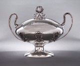 Spanish silversmith. Silver terrine with lid, mid-20th century