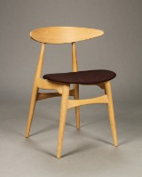 Hans J. Wegner for Carl Hansen & Søn. Stol model CH-33P, Eg, Remix 373