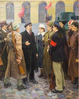 Andrej Zinovevich Tkachenko, Lenin speaking with soldiers and civilians