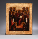 Russiske ikon 'Den udvidede Desis'. 1700-tallet