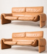 De Sede, two two-seater sofas model DS 2011 (2)