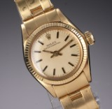 Vintage Rolex Oyster Perpetual ladies' watch, 18 kt. gold, c. 1971