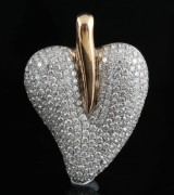 18kt diamond heart shape pendant approx. 3.00ct & 15.93gr