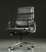 Charles Eames. Office chair, EA 219, black leather