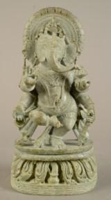 A Buddha Ganesha figure of soapstone
