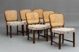 Seks spisebordsstole med flet i ryg (6)