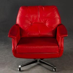 Roter ledersessel loungesessel b rosessel for Roter ledersessel