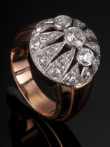 Evald Nielsen. Art Deco Brillantring - 1.40 ct.