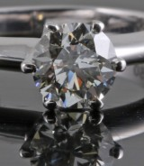 Solitaire diamond ring 0.93ct