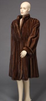 Mink coat, swing model, size approx. 40