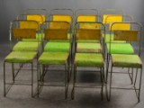 12 chairs, sheet metal and wrought iron (12)