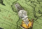 Rolex Oyster Perpertual, herrearmbåndsur, platin med diamanter, model Day-Date