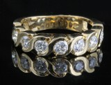 18K gold diamond ring approx. 1.38ct