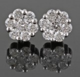 Earrings  in 18kt set with diamonds 1.10 ct